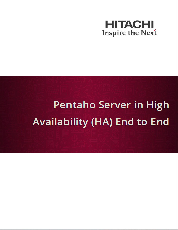 Pentaho Server in High Availability (HA) End to End